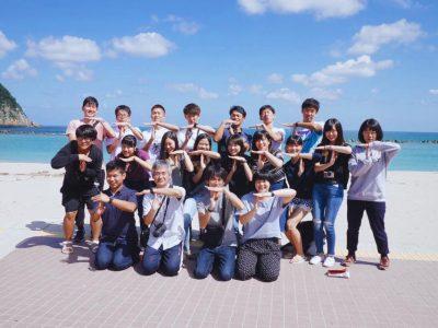 慶應大学、竹野に来たる