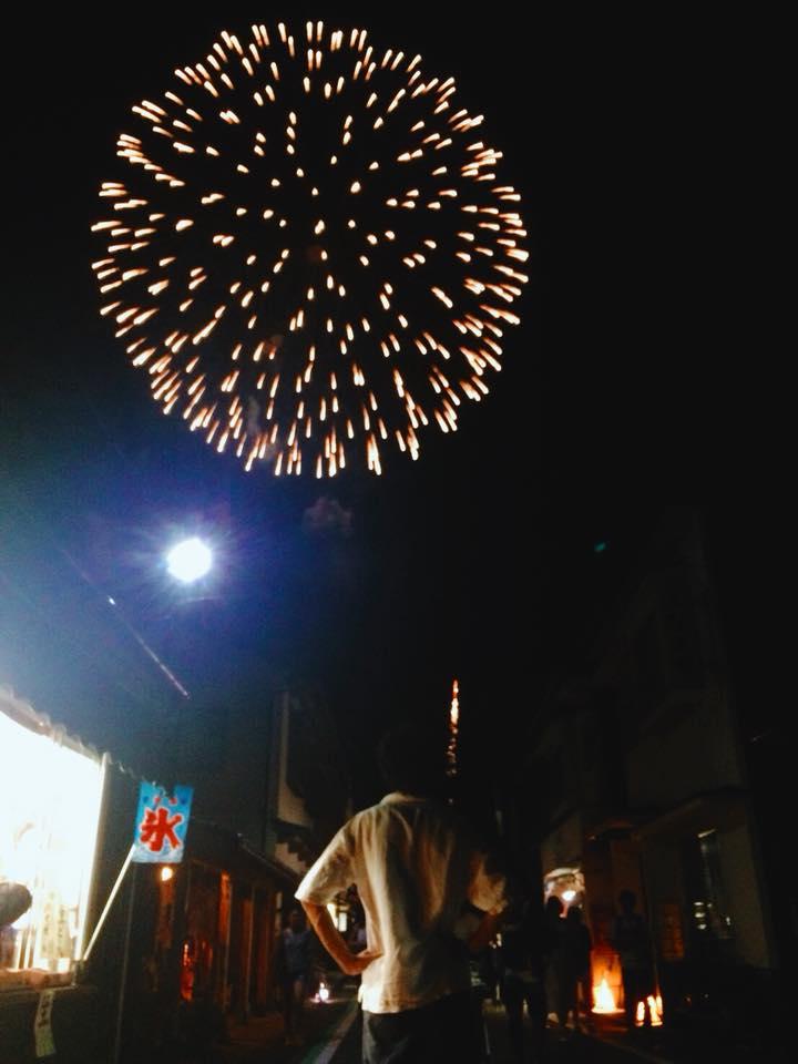 花火大会が終わって、燃え尽きました。